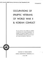 Occupations of Epileptic Veterans of World War II   Korean Conflict PDF
