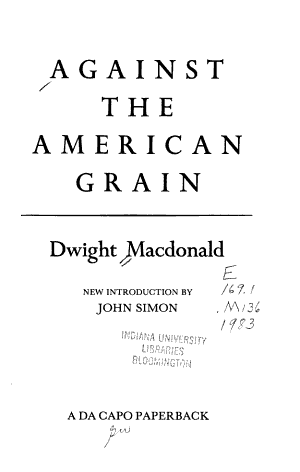 Against The American Grain