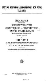 Office of Education Appropriations for Fiscal Year 1971