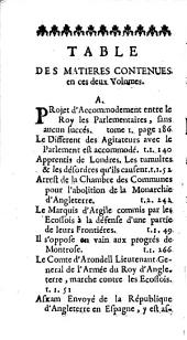 Histoire d'Olivier Cromwell...