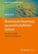 konomische Bewertung wasserwirtschaftlicher Systeme PDF