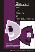 Gender and Its Effects on Psychopathology PDF
