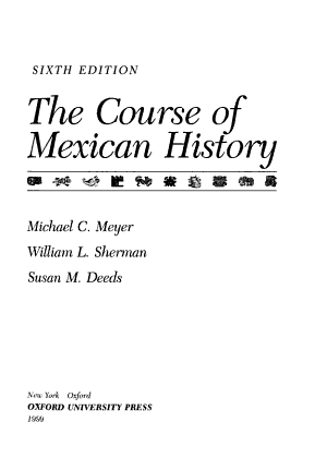 The Course of Mexican History PDF