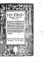 Io. Frobenius lectori S. D. Habes iterum Moriae encomium