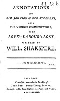Annotations by Sam  Johnson   Geo  Steevens  and the Various Commentators  Upon Hamlet  Written by Will  Shakespeare PDF