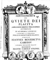 Philosophorum de quiete Dei placita