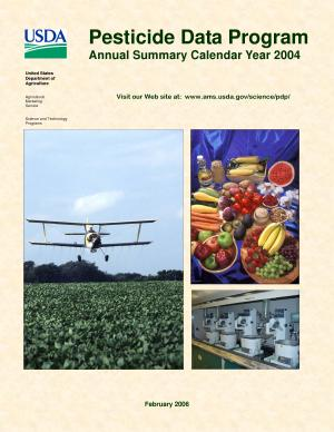 Pesticide Data Program: Annual Summary Calendar Year 2004