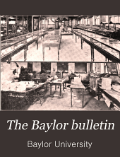 The Baylor Bulletin: Volume 14, Issue 2