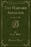 The Harvard Advocate  Vol  66 PDF