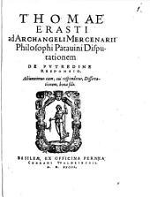 Ad Arch. Merienarii ... disputationem de putrudine responsio