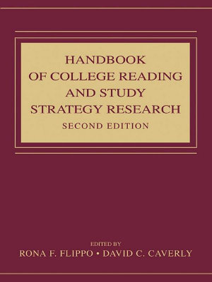Handbook of College Reading and Study Strategy Research PDF