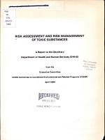 Risk Assessment and Risk Management of Toxic Substances