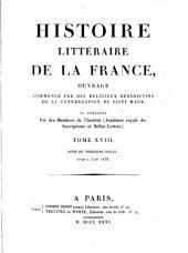Histoire literaire de la France: XIIIe siècle: Volume18