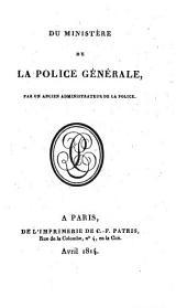 Du ministère de la police générale