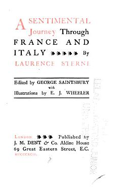 The Works of Laurence Sterne  A sentimental journey through France and Italy PDF