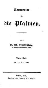 Commentar über die Psalmen: Band 4