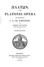 Platonis opera: Τόμος 2
