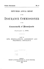 Annual Report of the Insurance Commissioners: Volume 2
