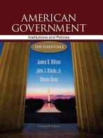 American Government  Institutions and Policies  The Essentials PDF