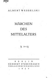 Marchen des Mittelalters PDF