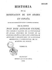Historia de la dominacion de los arabes en Espana
