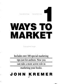 1001 Ways to Market Your Books PDF
