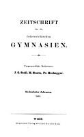 ZEITSCHRIFT FUR DIE OSTERREICHISCHEN GYMNASIEN PDF