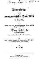 Thronfolge und die pragmatische Sanction in Ungarn PDF
