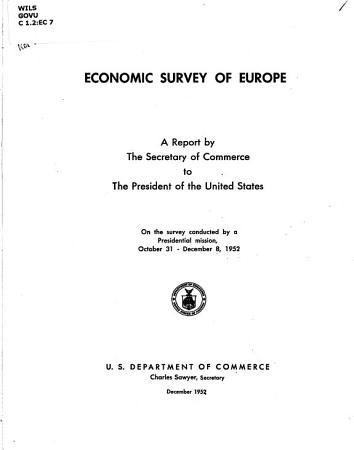 Economic Survey of Europe PDF