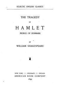 The Tragedy of Hamlet  Prince of Denmark PDF
