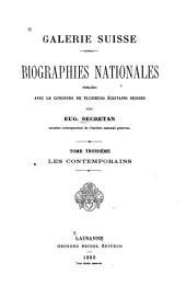 Galerie suisse: biographies nationales, Volume3