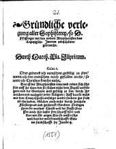 Gründliche verlegung aller Sophisterey, so D. Pfeffinger mit den andern Adiaphoristen, das Leiptzigsche Jnterim zubeschönen, gebraucht