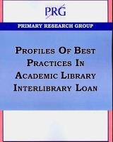 Profiles of Best Practices in Academic Library Interlibrary Loan PDF