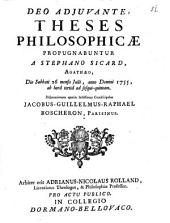 Theses philosophicae