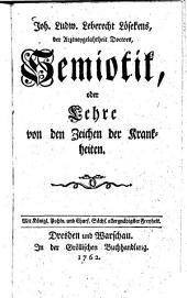 Joh. Ludwig Leberecht Lösekens Semiotik oder Lehre von den Zeichen der Krankheiten