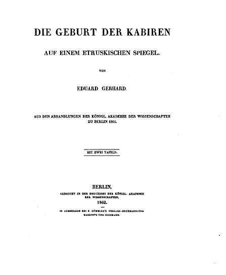 Die Geburt der Kabiren auf einem etruskischen Spiegel PDF
