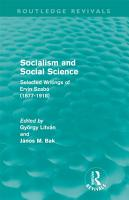 Socialism and Social Science  Routledge Revivals  PDF