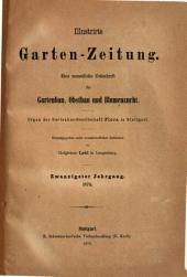Illustrirte Garten-Zeitung: Band 20