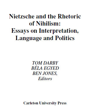 Nietzsche and the Rhetoric of Nihilism PDF