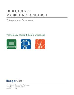 BoogarLists   Directory of Marketing Research PDF
