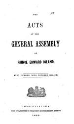 The acts of the General Assmbly of Prince Edward Island