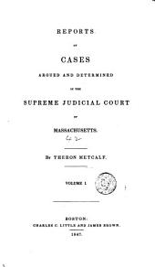 Reports of Cases Argued and Determined in the Supreme Judicial Court of the Commonwealth of Massachusetts: 1840, Volume 1; Volume 42