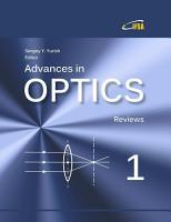 Advances in Optics  Vol  1 PDF