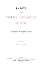 Index To The English Catalogue Of Books  Book PDF