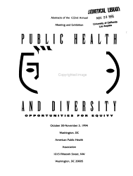 Abstracts     Annual Meeting of the American Public Health Association and Related Organizations PDF