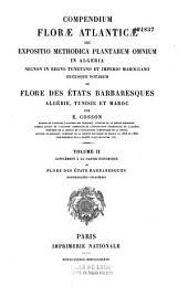 Compendium florae atlanticae... ou Flore des états barbaresques : Algérie, Tunisie et Maroc