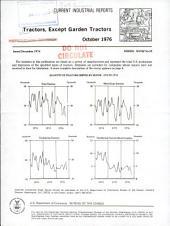 Current Industrial Reports: Tractors (except garden tractors)