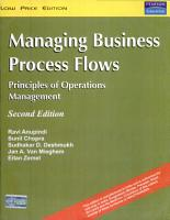 Managing Business Process Flows  Principles Of Operations Management  2 E PDF