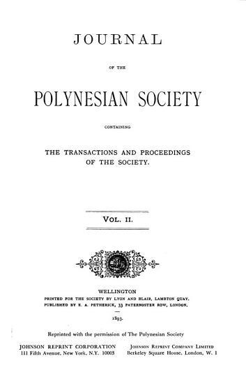 Journal of the Polynesian Society PDF