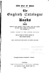 The English Catalogue of Books ...: Volume 69